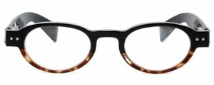 Calabria 4372 Oval Reading Glasses w/ Case IN 3 COLORS(Tortoise) & 15 STRENGTHS