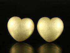 Große Designer Herz Ohrclip ohne Stecker   22,4g 750/- Gelbgold