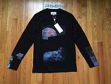 $392 Maison Martin Margiela 10 Galaxy Space LongSleeve Black Tee Sz 48/M T-shirt