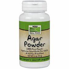Now Foods AGAR POWDER Vegetable Substitute for Gelatin 2 oz Non-GMO, Gluten-Free