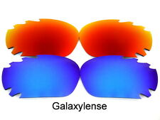 Galaxy Replacement Lenses For Oakley Racing Jacket Blue&Red Polarized 2Pairs