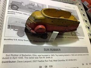 """1935 Sun Rubber Futuristic Streamlined Truck 4 1/2"""" long Rare"""