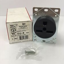Pass & Seymour 3801 Power Outlet Flush Mount Receptacle Straight Blade 220V 30A