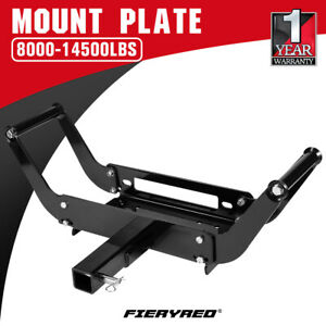 4WD Winch Cradle Mount Plate Bull Bar Steel 4WD ATV Jeep Truck Trailer Mounting