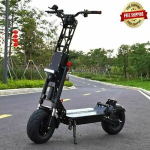 New FLJ electric scooter K6 6000W 60V 13 inch dual drive motor 40Ah range 150kms