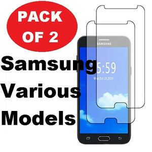 2X Tempered Glass Film Screen Protector For Samsung A6 J6 A8 2018 J5 2017 J4+