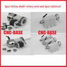 K12 100mm chunk hollow shaft 4 axis, rotary axis  + tailstock for cnc router