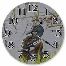 "10.5"" MALLARD DUCK IN WATER CLOCK Large 10.5"" Wall Clock Home Décor Clock - 3019"