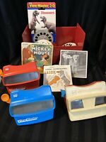 Set Of 3 Viewmaster Viewers & Disc Micky , Benji , Lassie Etc 30 Disc