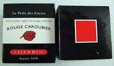 ENCRE J HERBIN COULEUR ROUGE CAROUBIER CALLIGRAPHIE RED INK ROJO CALLIGRAPHY