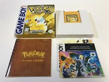 Pokemon Yellow Game Boy Nintendo GameBoy CIB 100% Complete NR Mint