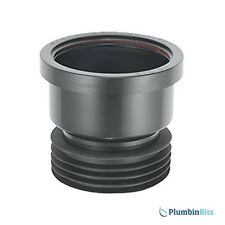 "Mcalpine Drain Connecter Black 110mm 4"" DC1-BL Plastic to Clay / Cast Iron pipes"