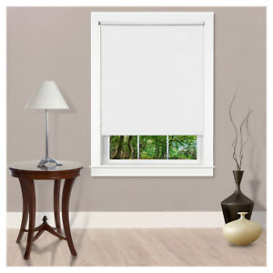 Light Filtering Room Darkening 8 Gauge Cordless Black-Out Window Roller Shades