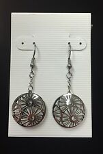 STAINLESS STEEL DOUBLE SIDED SUN FRENCH WIRE EARRINGS - BRAND NEW!