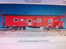 USA Trains G Scale Bay Window Caboose R12054 Burlington Route - Red/Black