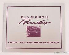2000 Plymouth Chrysler Prowler Concept Collector Brochure History of the Program