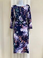 COAST NAVY FLORAL DRESS - SIZE 14