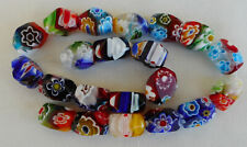 21 Millefiori Glass Beads in Assorted Colors