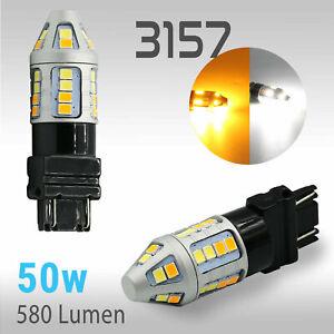 High Power 3157 Type 1 Switchback White Amber Turn Signal LED Light Bulb