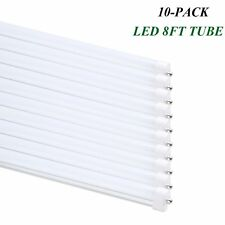 F96T12 T8 LED 8 Foot Tube Light 40Watt FA8 Single Pin Lamps 6000K Frosted Cover