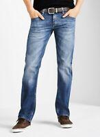 W38 Mustang Herren Jeans Oregon Tapered Dark Rinse Used Herren Hose Blau W29