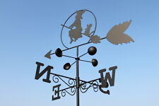 Weathervanes- Steel Witch on a Broom Weathervane- NOW REDUCED