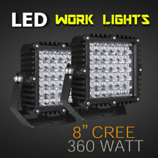 "LED Work Light - PAIR - 8"" 360W PRO Grade, Available in Spot or Flood 12v/24v."