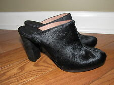 Madewell Andie High Heel Clogs in Calf Hair size 6 E5162 Black