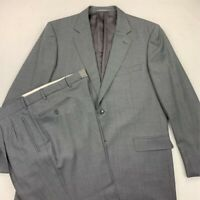 Ermenegildo Zegna Mens Suit Gray Notch Lapel Pockets Pleated Wool 56 L / 40 x 34