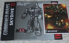Transformers Combiner Wars SKYDIVE Bio Card and Manual
