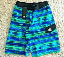 Adidas Water Stripe Swim Trunks Boys(8-20), Size M