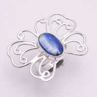 925 Solid Sterling Silver Ring, Natural Kyanite Gemstone Desinger Jewelry CR1998