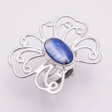 925 Solid Sterling Silver Ring, Natural Kyanite Gemstone Desinger Jewelry CR1998