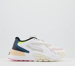 Womens Puma Hedra Trainers White Whisper White Peacoat Trainers Shoes