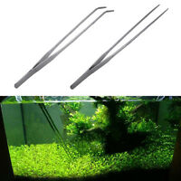 Aquarium Plant Reef Tank Long Straight /Crooked Tweezer Clip Scissor Stainless