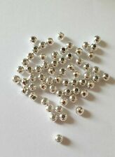100pcs Silver Plated Spacer Beads 2/3/4mm Jewellery Making Findings