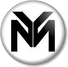 """YM 25mm 1"""" Pin Button Badge Young Money Cash Money Billionaires Records Rap Logo"""