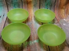 Tupperware 1 Set (4) Open House Cereal bowls 3 Cups Margarita Green New!!!!