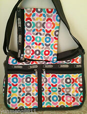 NWT LeSportsac Deluxe Everyday crossbody tote bag Purse key largo red blue $82