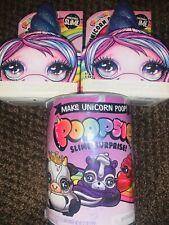 New Poopsie Rainbow Unicorn Blue Horn Crush Slime Wave Drop Series 2 Lot 3