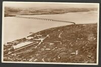 Postcard Dundee Scotland aerial view posted 1954 RP