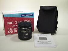 "MC Zenitar 2.8/16mm ""Fish Eye"" lens for Canon EOS EF-mount, new design"