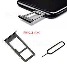 NEW GENUINE SINGLE SIM BLACK SIMTRAY SIM TRAY & SIM PIN  FOR SAMSUNG GALAXY S8