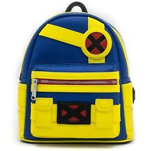 Loungefly Marvel X-Men Cyclops Mini Backpack Superhero Bag PU Leather Purse