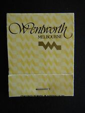 WENTWORTH MELBOURNE SYDNEY GALLERY COURT & PIANO BAR 35th LEVEL MATCHBOOK