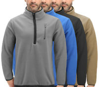 Men's  Lightweight Half Zip-Up Collared Warm Polar Fleece Pullover Sweatshirt