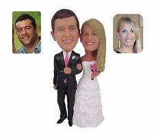 Custom Made 18cm Wedding Cake Topper Groom and Bride Action Figures