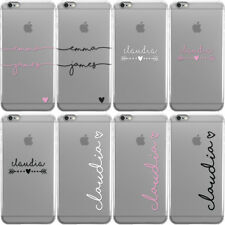 PERSONALISED HANDWRITTEN CLEAR CASE WITH NAMES PHONE CASE COVER FOR APPLE IPHONE
