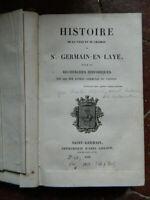 [Charles Odiot] Histoire de la ville et château St.-Germain-En-Laye Goujon 1829
