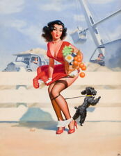 Art Frahm Pin Up Girls 18 Giclee Canvas Print Paintings Poster Reproduction